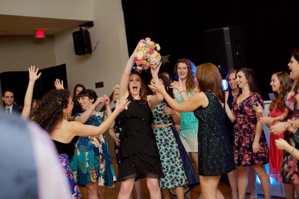 Bouquet Toss Burbank Wedding
