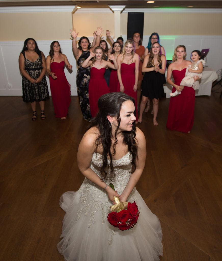 Bouquet Toss Westlake Village Wedding